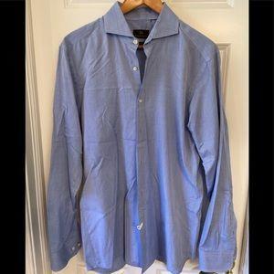 "Men's large blue Hugo Boss Selection ""shaped fit"""